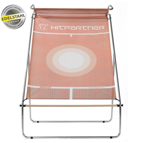 Tennisballwand HitPartner rot Pro Version Edelstahl